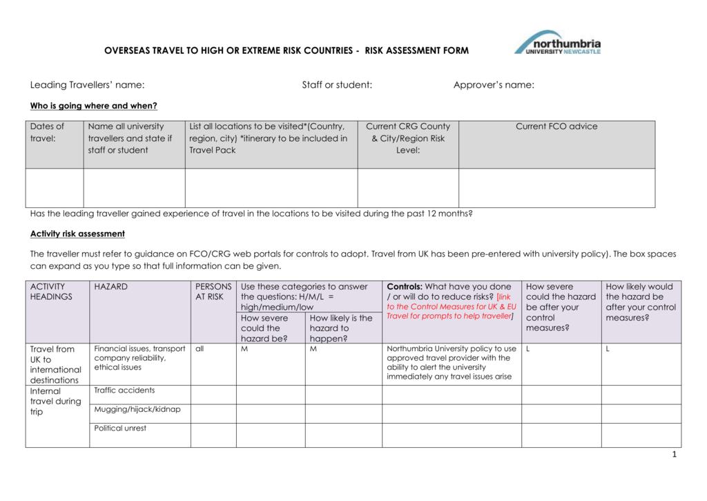 26+ risk assessment form templates | free & premium templates.