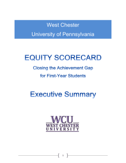 WCU Equity Scorecard Retention Completion Exec Summary