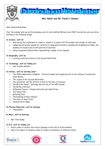 Mrs Noble and Mr Taylor`s curriculum newsletter