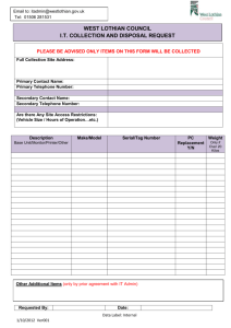 IT Equipment Disposal Form
