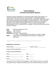 Cyber Bullying - Parent Night RSVP form