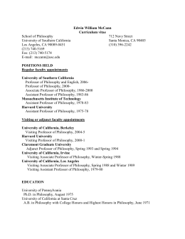 Curriculum Vitae - USC Dana and David Dornsife College of Letters