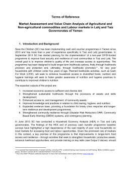 Market Assessment and Value Chain Analysis of