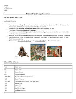 Medieval Project Packet