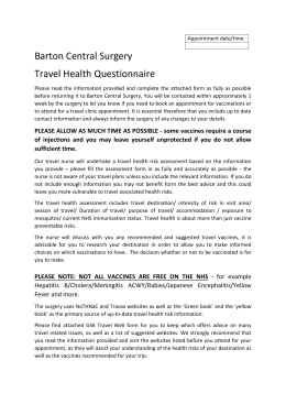the travel assessment form here