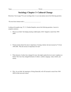 Sociology Chapter 3- Cultural Change