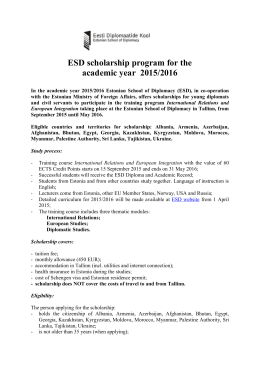 ESD Scholarship offer for 2015-2016
