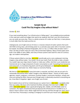Sample OpEd_Imagine a Day without Water (1)