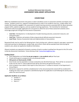 assessment mini-grant application