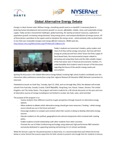 Global Alternative Energy Debate - Internet K20 Initiative