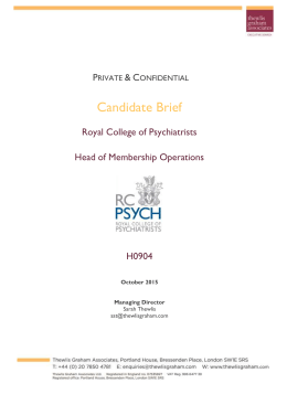 Information Pack - Royal College of Psychiatrists