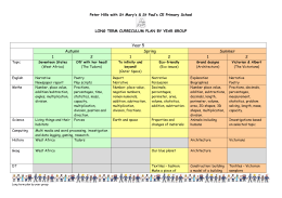 Year five planner - Peter Hills with St Mary`s & St Paul`s