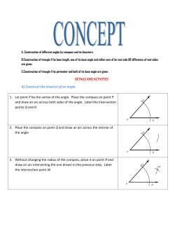 CONCEPT A. Construction of different angles by compass and its