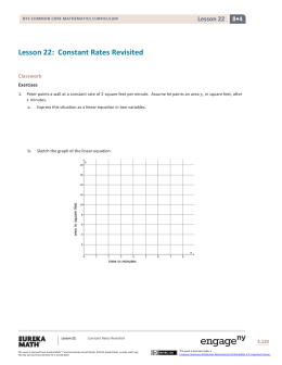 Constant Rates Revisited