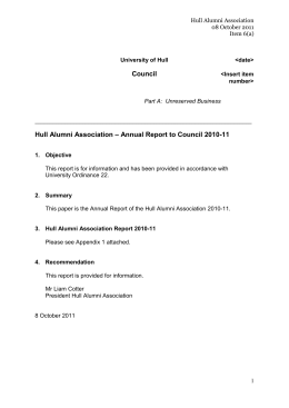 Item 6(a) President`s Report to Council 2010-11