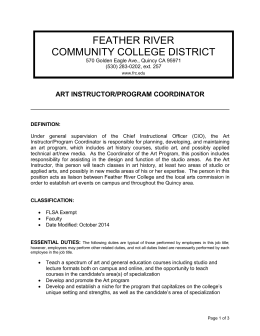 Art Instructor/ Program Director