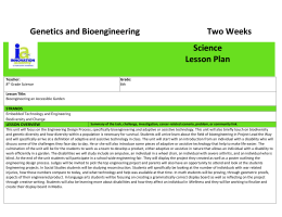 8th Science Genetics and Bioengineering