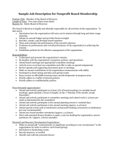 Sample Job Description for Nonprofit Board Member