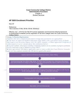 AP 5055 Enrollment Priorities 1-13-2014