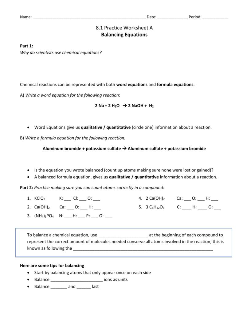 Workbooks » Pan Balance Equations Worksheets - Free Printable ...