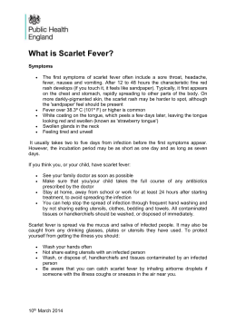 Scarlet Fever Information - Abbey Meads Community Primary School