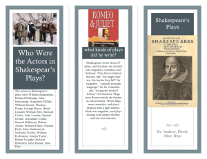 What were the 3 most popular plays?