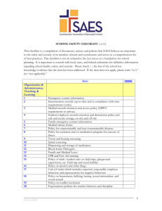 School Safety Checklist