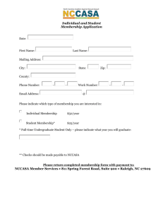 Individual and Student Membership Application