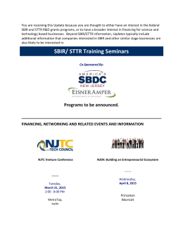 SBIR/ STTR Training Seminars