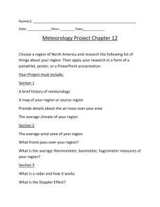 Meteorology-Project-Chapter