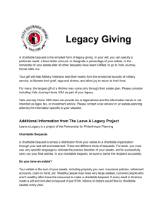 Legacy Giving - Vets Journey Home