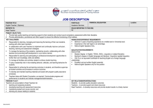 English Teacher - Diploma - Abu Dhabi Vocational Education and