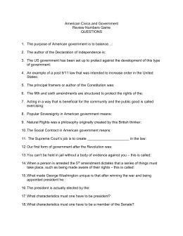 CONSTITUTIONAL SCAVENGER HUNT Directions – Use The