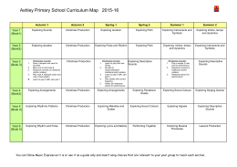 Ashley Primary School Curriculum Map 2015