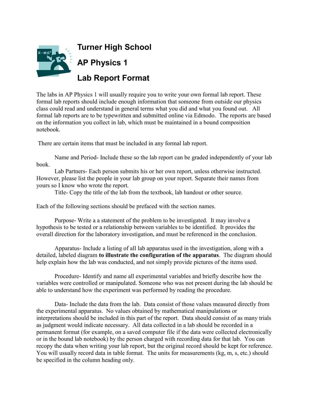 How to Write a Physics Lab Report How to Write a Physics Lab Report new images