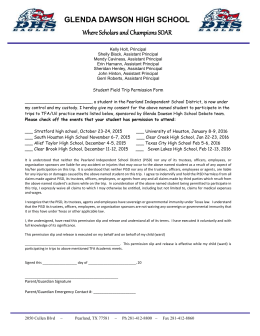 Permission Form - Pearland Independent School District