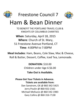 Ham & Bean Dinner Flyer