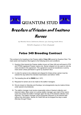 Quantum Stud Breeders of Friesian and Lusitano Horses