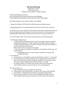 BIS Board Minutes 9-22-15 - Bend International School