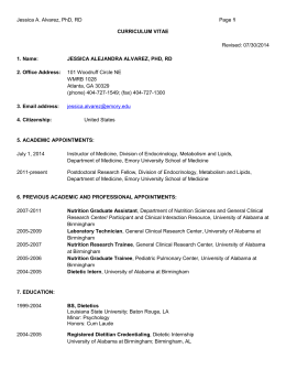 curriculum vitae - Atlanta Pediatric Research