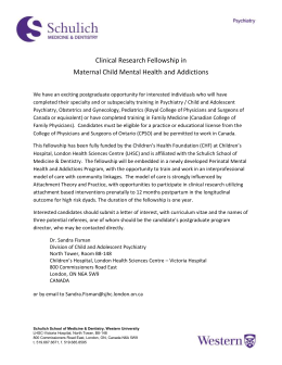 Clinical Research Fellowship in Maternal Child Mental Health and