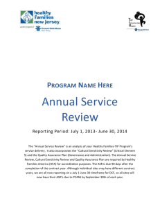 Annual Service Review