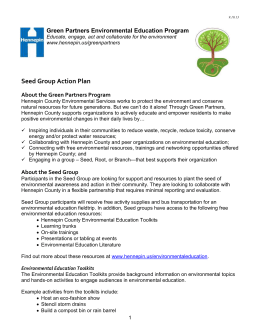 Green Partners Environmental Education Program