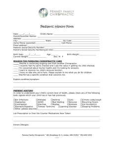 Pediatric Form - Penney Family Chiropractic