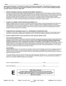 Notification of Placement in a Language Instruction Educational