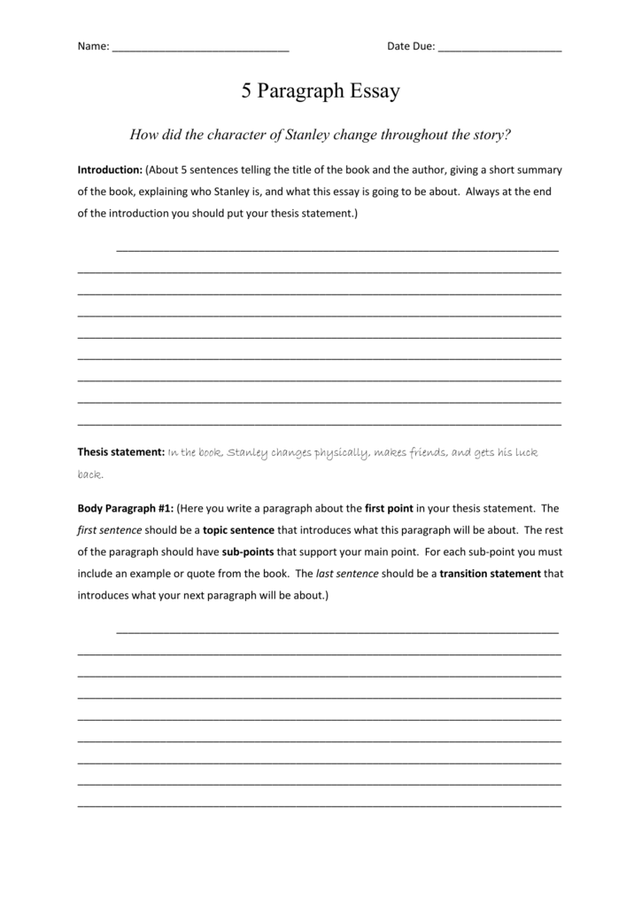 thesis statement paragraph