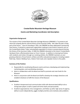 to view the full job description. - Crested Butte Mountain Heritage