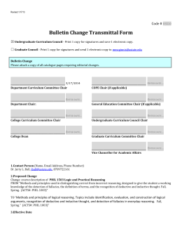 Bulletin Change Transmittal Form