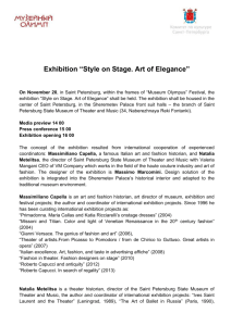 "Exhibition ""Style on Stage. Art of Elegance"""
