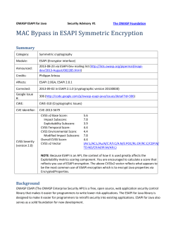 ESAPI-security-bulletin1 - owasp-esapi-java